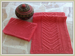 Eyelet Seed Chevron Towel Pattern