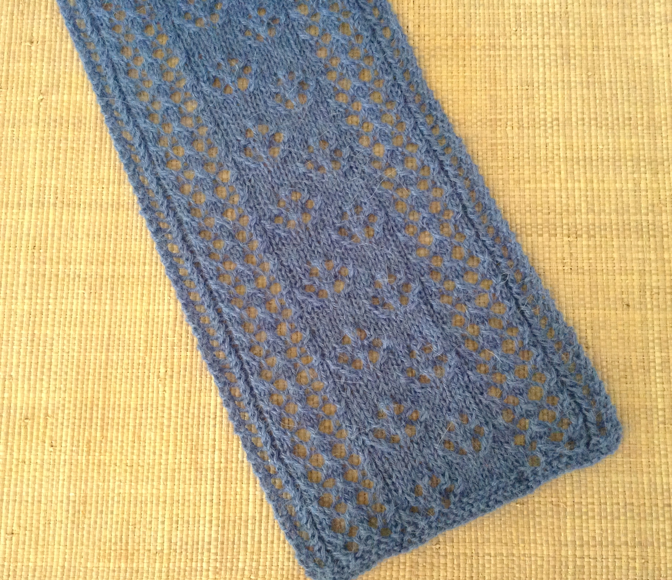Knitting Stitches Sk2p : Practice Basic Lace Knitting Stitches   and Knit a Scarf! This Man Knits