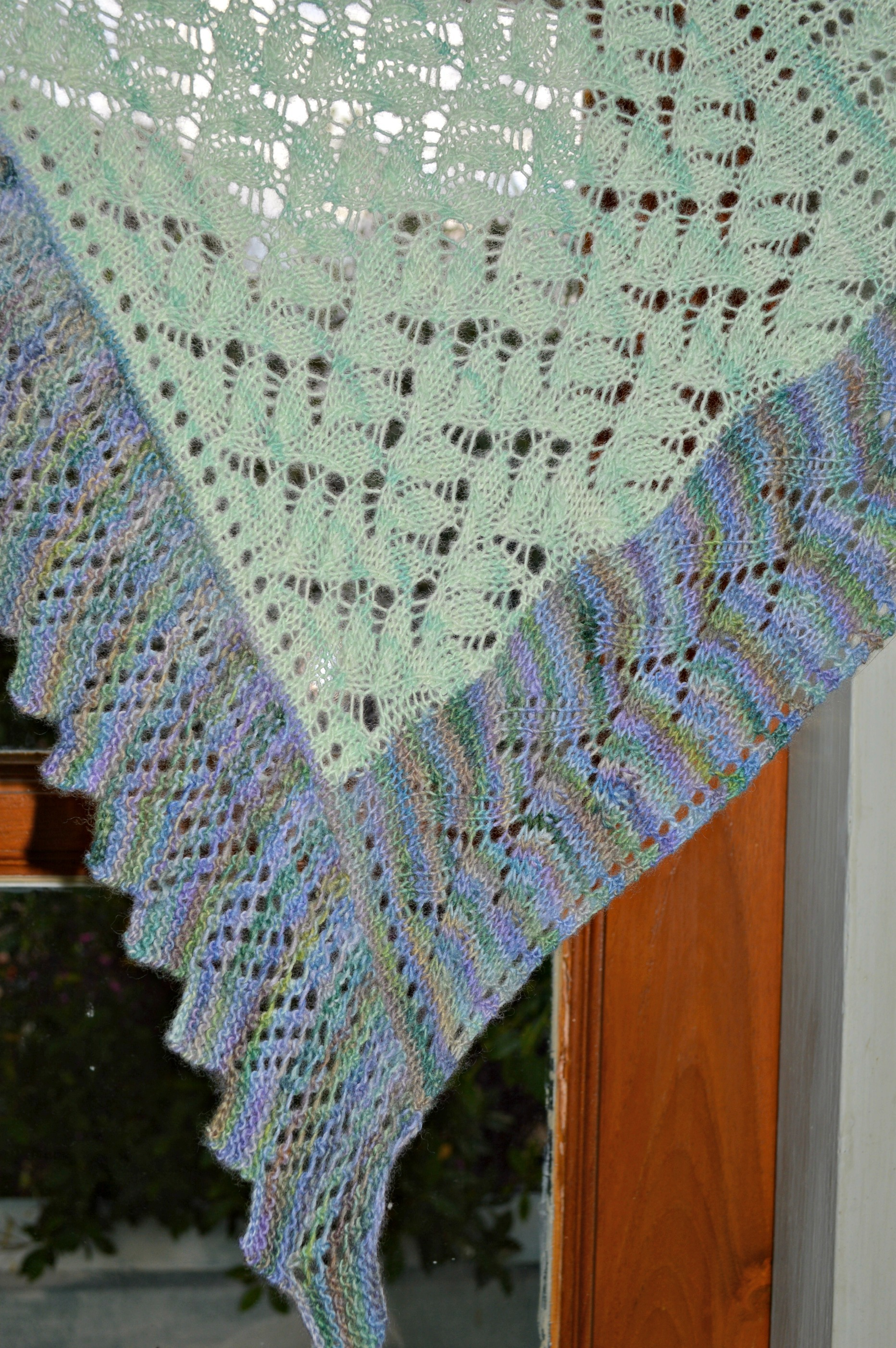 Another Knit-on Edging – and a New Lace Shawl Pattern | This Man Knits