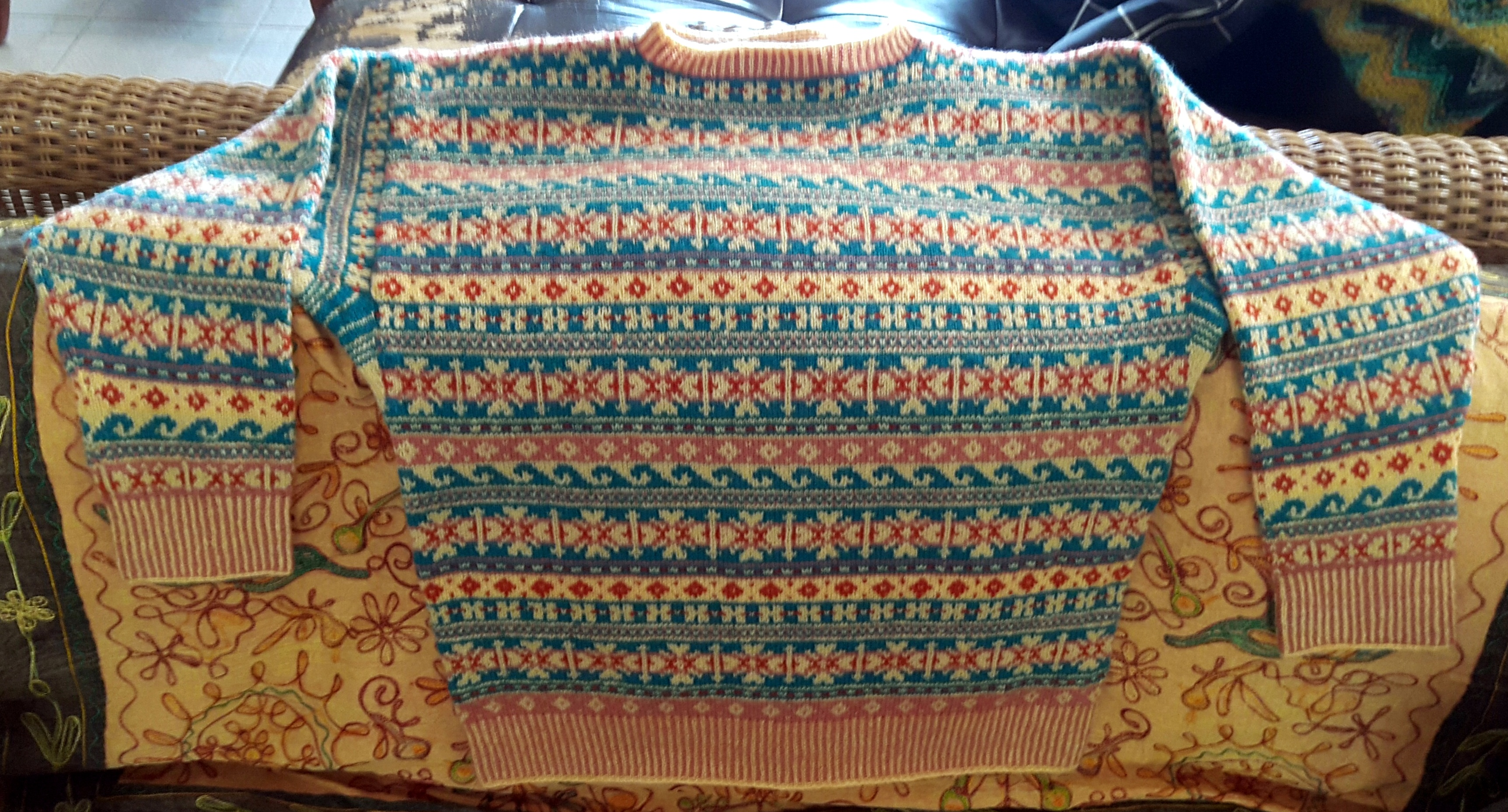 My First Traditional Fair Isle Gansey: Finished! | This Man Knits