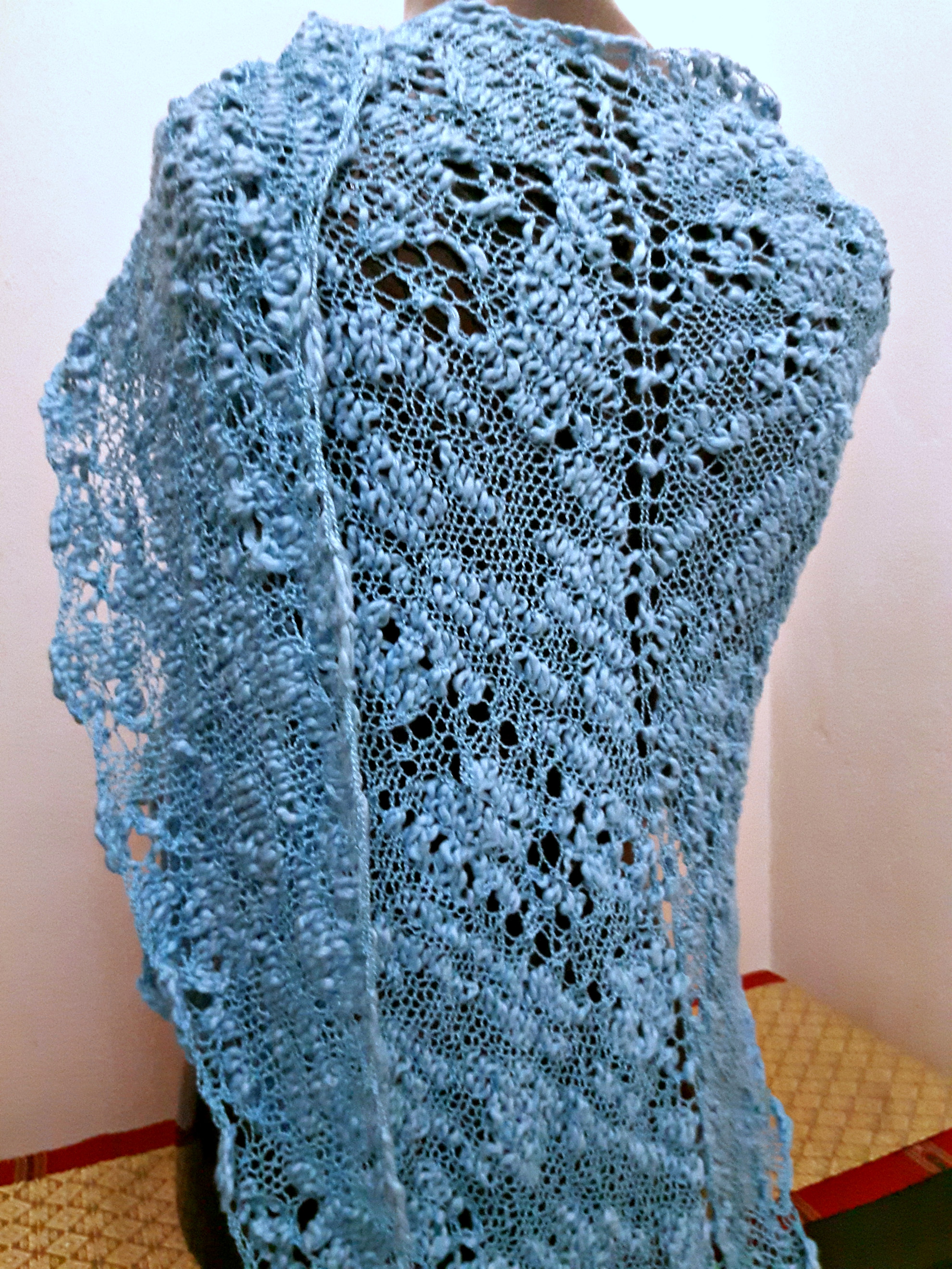 Summer in Bloom: Easy Knit Lace Shawl | This Man Knits